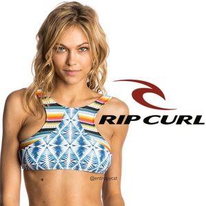 NWT Rip Curl Hi Neck Beach Bazzar Bikini Top